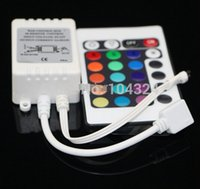 Wholesale DC12V Keys IR Remote Controller for SMD3528 SMD5050 RGB LED Strip lights Mini Controller