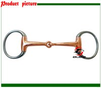Wholesale SS eggbutt bit copper solid jointed mouth Horse product horse racing product BT0313US