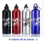 metal water bottle - Outdoor Sports Bicycle Bike Aluminum Alloy Water Kettle Bottle ml Metal Clip Color high quality