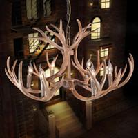 antler light fixtures - Antique Creative Antlers Pendant Lamp Antler Lamp Home Hotel Office Lights Deco Chandelier Light Fixture
