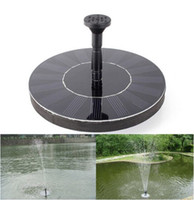 Wholesale New hot selling V Floating Water Pump Solar Panel Garden Plants Watering Power Fountain Pool