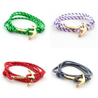 anchor jewelry - Anchor bracelets Infinity bracelet Wrap Rope Charm Fish Hook With Nautical Rope Paracord For Men And Women Miansai Style fashion jewelry