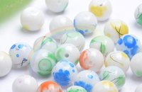 Wholesale MM MM MM circular brushed glass paint ball loose beads DIY Beads Jewelry Accessories
