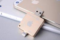 Wholesale I flash drive for iPhone iPad iPod MAC USB Flash Drive GB Pen disk memory stick HD pen drive USB Stick Memory Card Gift