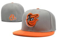Wholesale MLB Baltimore Orioles Baseball Cap Embroidery Front Logo Altenate O a on field Fitted Hat