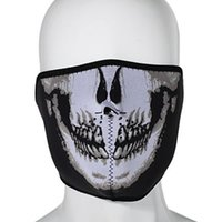 Wholesale Hot Sale Scary Skull Printing Ski Snowboard Cycling Neoprene Windproof Half Face Mask Outdoor Paintball