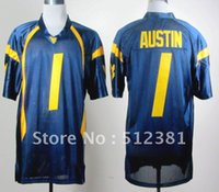austin cans - Factory Outlet can mix team player Tavon Austin West Virginia Mountaineers Blue College Football Jersey