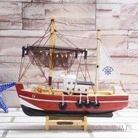 28cm de madera modelo de barco pesquero chino hecho de la artesanía de madera maciza regalos hechos a mano la decoración del hogar