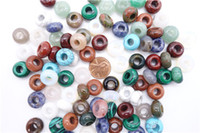 Wholesale 20pcs Natural Stone mm Abacus Spacer Beads Mixed Color Loose Beads For Fashion Jewelry Making DIY
