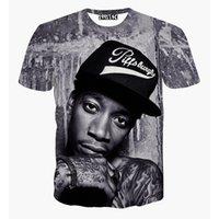 Cheap harajuku style women men t shirt print Wiz Khalifa rock punk t shirt 3d hiphop tshirt clothing men's graphic t-shirt tops