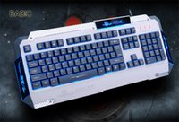 basic keyboard - Basic K Blue Backlight Keyboard All Core Waterproof Gaming Keyboard Built In Steel Design Ps Interface Crater Structure