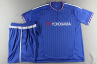 chelsea - New Arrival Chelsea home blue soccer shirts thailand quality football jersey shorts sleeve sport uniform Brand kits