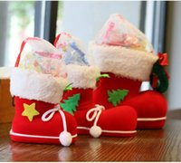 christmas box - Hot Selling New Christmas Decoration Christmas Boots Candy Box for Kids Shoes Christmas Gifts Bags