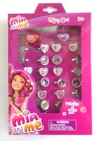 Wholesale New Sale Cartoon mia and me Plastic Rings Frozen Rings Kids Girl Birthday Party Gifts
