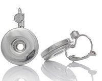 Wholesale NOOSA chunks silver rhinestone snap button earrings Fashion hot Interchangeable Jewerly for women