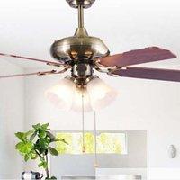 ceiling fan remote control - Ceiling Fan Modern European minimalist Ceiling Fan LED Fan Light Living Room Pendant Light Remote Control Light L mm H mm