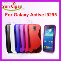 galaxy s4 active - Colorful S Wave Line Clear Crystal Soft TPU Gel Case Cover For Samsung Galaxy S4 Active I9295