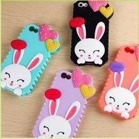 Caso para Apple Iphnoe 4S 5 6 Cajas de teléfono celular Iphone 6Plus Conejo Células Móviles Corazón Shell Teléfono Cajas de caso encantador