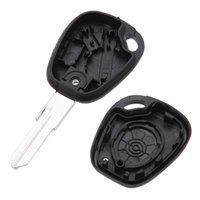 key covers - 1 Button Uncut Blade Remote Car Key Case Shell Fob Cover Replacements Key for Renault Scenic Clio Megane Interior Styling K1649