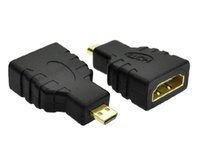 Adapter speaker connectors types - HDMI Type A Female to Micro HDMI D Male Gold Plated Adapter Converter Connector