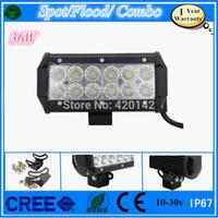 Cheap 2X36W CREE LED WORK LIGHT BAR SPOT BEAM FOR FOG LIGHT 4WD ATV UTE OFFROAD SUV LED CARS TRUCK h1 PARKING DAYTIME RUNNING LIGHT