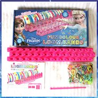 loom bands - Frozen Fun Color Loom Bands Anna Elsa rainbow bands Kids DIY toys Rubber Band bracelets bands clips Christmas gifts