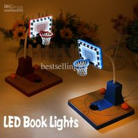 basketball table lamp - Blue Red Two Color USB charging LED Book Lights Can be Freely Bent Basketball Style Table Lamp Free Delivery