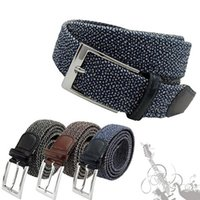 canvas belts - Men Stretch Canvas Belts Men Casual Belt Buckle Elastic Belt Pin Buckle Belt Universal Trouser Pockets GB05 salebags