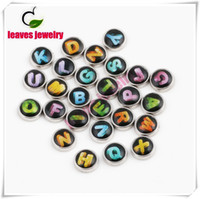 alphabet - 26pcs color Crystal Letter ALPHABET A Z Initials Floating Charms for Memory Living Floating Lockets