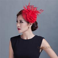 fascinator hat - Cocktail Fashion Sinamay Feather Fascinator Hat Flower Design Net SCF02062