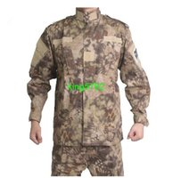 Wholesale Kryptek Men Army Military Equipment Airsoft Paintball Shooting BDU Uniform Combat shirts and pants set