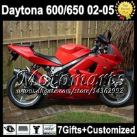 Wholesale 7gifts For Triumph Factory red Daytona Daytona650 M2512 ALL gloss red Triumph650 Fairing Kit