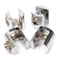 Wholesale 4pcs pack Excellent Quality Zinc Alloy Small Glass Shelf Strong Support Stainless Clamps Brackets mm