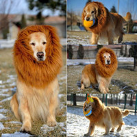 Wholesale Hot Pet Costume Lion Mane Wig For Dogs Halloween Festival Fancy Dress Up Chic Hot halloween dog costumes lion dog costume