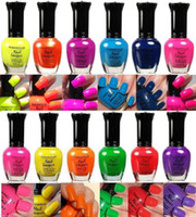 Wholesale New Kleancolor Nail Polish Neon Collection Set of Lacquer Full Size Art