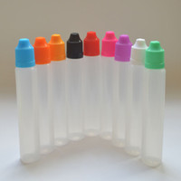 Wholesale Fast Shipping Unicorn Bottles ml PE E Liquid Bottle with Colorful Child Proof Caps and Long Thin Tips Pen Shape Bottle Fedex Free