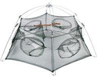 cast net - Fishing Accessories cm Six Holes Floding Crab fish Minnow Fishing Trap Cast Net