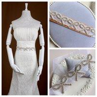 beaded western belts - Crystal Beaded Bridal Ribbon Rhinestone Bowknot Bride s Wedding Sashes Belts Western Fashion Waistbands Crystal Bridal Accessories
