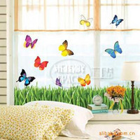 acting cartoons - 10 home decor Acting butterfly bushes cartoon wall stickers children s room stickers living room bedroom wall stickers wall decor TC