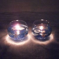 Wholesale Ocean jelly flavored romantic Mediterranean style candlesticks creative lantern ornaments two loaded