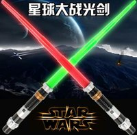 Wholesale 2016 Star Wars Jedi Lightsabers The Force Extendable Electronic Lightsaber Led Flashing Light Sword Toys Childrens Christmas DHL
