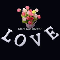 Wholesale 4Pcs Free Standing Wood Wooden White LOVE Letters Alphabet Word Wedding Birthday Gift Home Decor Decoration