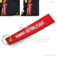 aviation flight bags - B76 Remove Before Flight Embroidered Aviation Carryon Key Chain Pilot Bag Crew Tag keyring