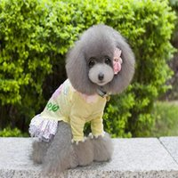 Wholesale Fashion lovely Dog clothes juniors dress teddy pet clothes pet dogs clothing skirt whit hat