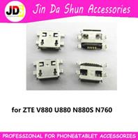 Wholesale For ZTE V880 U880 N880S N760 C8650 Y220T U880E Micro usb Charge Charging Connector Plug Dock Socket Port
