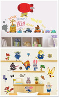 Wholesale 300pcs new arrive designs Zootopia wall stickers cartoon D wallpapers wall decals children removable PVC wallpaper baby room D602