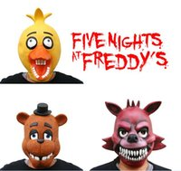 Wholesale DHL five nights at freddy s Adult Novelty cosplay masks FNAF cosplay masks FNAF Foxy Chica Bonnie Freddy Rubber Latex Mask