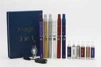 Cheap Dry Herb oil Wax Herbal Classical Magic 3 In 1 Glass Globe Vaporizer Ago G5 Mt3 atomizer tanks vaporizer Evod Luxury Starter Kit e cig