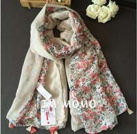Wholesale High quality women teenager girls floral tassels scarves womens floral scarf fashion women s spring autumn big floral scarves wraps scarf