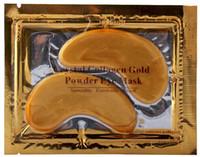 collagen mask - DHL packs New Brand Crystal Collagen Gold Powder Eye Mask Crystal Eye Mask Eyes masks Dark circle Anti wrinkle moisture